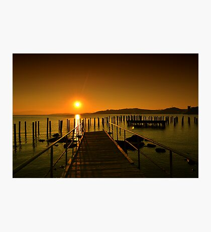 sunset in bodrum Photographic Print