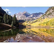Maroon Bells, Aspen Colorado Photographic Print