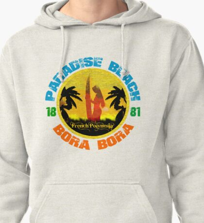 Bora Bora Surf Paradise Pullover Hoodie