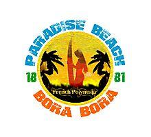 Bora Bora Surf Paradise Photographic Print