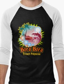 Bora Bora Nice Land Men's Baseball ¾ T-Shirt