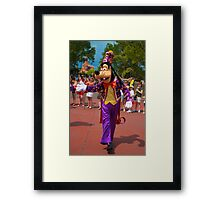 Goofy In the Parade Framed Print