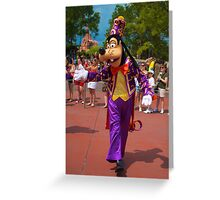 Goofy In the Parade Greeting Card