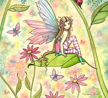 Spring Magic Fairy Fantasy Art by Molly Harrison by Molly  Harrison