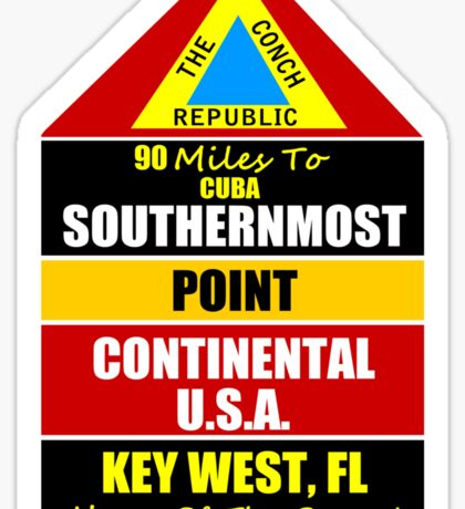 Key West Conch Republic Sticker