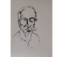 Ink Drawing of Michael - Head Study Photographic Print