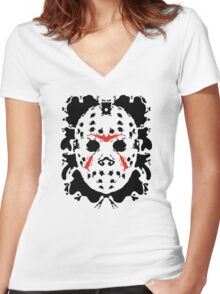 13th Inkblot Women's Fitted V-Neck T-Shirt