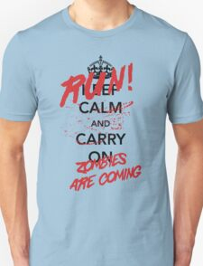 Keep Calm / Zombies Are Coming T-Shirt