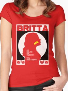 Britta - Meow Meow Beenz Poster Women's Fitted Scoop T-Shirt