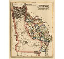 Antique Map of Georgia from c1817 Photographic Print