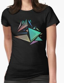 Geometric Crystals inverted Womens Fitted T-Shirt