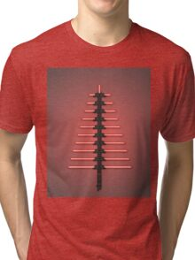 Merry Christmas [Light Saber Tree] Tri-blend T-Shirt