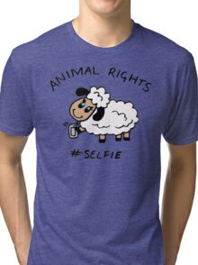 Selfie for Animal Rights Tri-blend T-Shirt