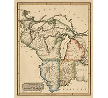 Antique Map of the Midwest US from c1817 Photographic Print