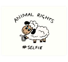 Selfie for Animal Rights Art Print