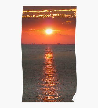 Biloxi Sunset Poster