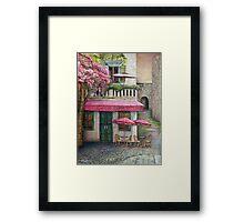 The Red Cafe Framed Print