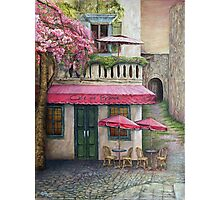 The Red Cafe Photographic Print