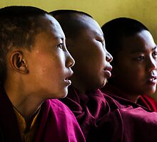 Three Young Monks by Valerie Rosen