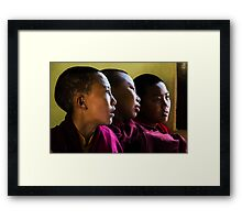 Three Young Monks Framed Print