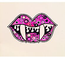 Vamp Lips Photographic Print