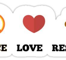 Peace, Love & Rescue Sticker