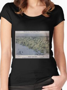Civil War Maps 0195 Birds eye view of North and South Carolina and part of Georgia Women's Fitted Scoop T-Shirt