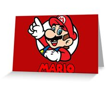Mario Bubble Greeting Card