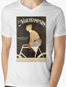 American Golden Age bicycle advertising by Penfield Mens V-Neck T-Shirt