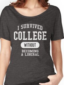 Conservative Humor - I Survived College Women's Relaxed Fit T-Shirt