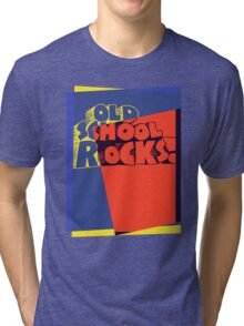 Old School Rocks Pop Art Tri-blend T-Shirt