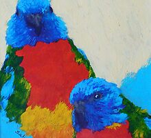 Parrot Pair by Margaret Saheed