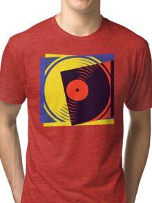Pop Art Vinyl Record Tri-blend T-Shirt