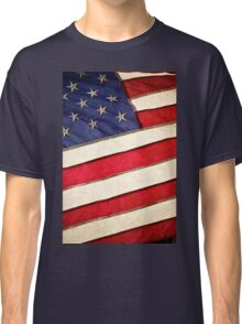 Patriotic American Flag Classic T-Shirt