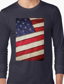 Patriotic American Flag Long Sleeve T-Shirt