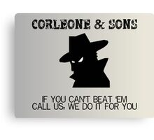 Corleone & Sons - If you can't beat them Canvas Print