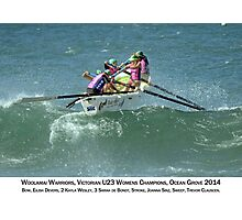 Woolamai Warriors - Vic U23 Girls Champions 2014 captioned Photographic Print