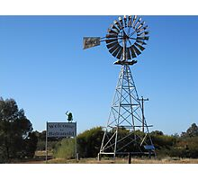 Entering Balranald! Country Town, N.S.W.  Photographic Print