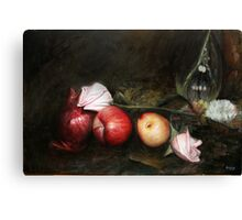 Apples and Roses Canvas Print