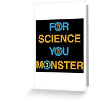 For Science Greeting Card