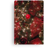 Christmas Tree in Red Canvas Print