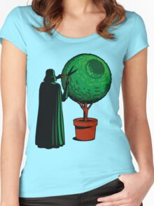 Meanwhile On The Death Star Women's Fitted Scoop T-Shirt