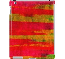 FIERCE - Intense Wild Nature Masculine Stripes Abstract Watercolor Painting Design Urban Fine Art iPad Case/Skin