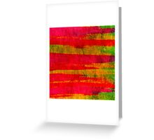 FIERCE - Intense Wild Nature Masculine Stripes Abstract Watercolor Painting Design Urban Fine Art Greeting Card