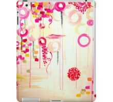 Bubblegum POP! Beautiful Cheerful Bubbles Pretty Pink Feminine Abstract Acrylic Painting Sky iPad Case/Skin