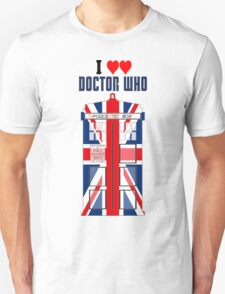 I Heart Doctor Who (Union Jack TARDIS) Unisex T-Shirt