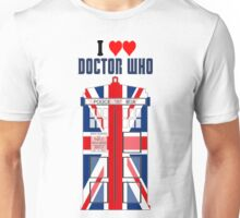 I Heart Doctor Who (Union Jack TARDIS) Unisex T-Shirt