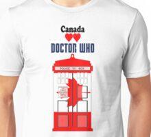 I Heart Doctor Who (Canada TARDIS) Unisex T-Shirt