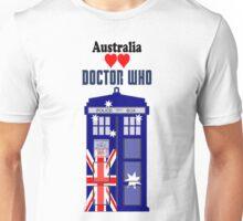 I Heart Doctor Who (Australia TARDIS) Unisex T-Shirt
