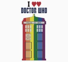 I Heart Doctor Who (LGBT TARDIS) by DewiAeon